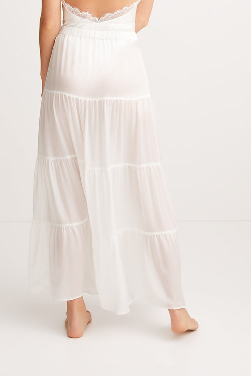 SLEEPING WITH JACQUES Sylvia Skirt - White
