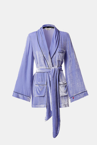 SLEEPING WITH JACQUES Bon Vivant Robe - Jacaranda