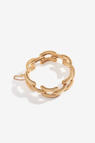 LUCY FOLK Basket Case Yellow Gold Plate Bracelet