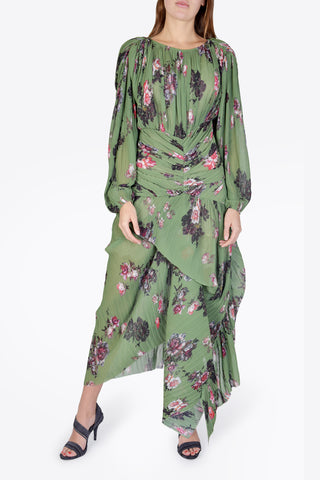 PREEN BY THORNTON BREGAZZI Ofira Dress - Green Wild Rose