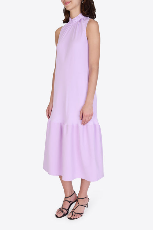 Modern Drape Sculpted Long Dress - Mulberry