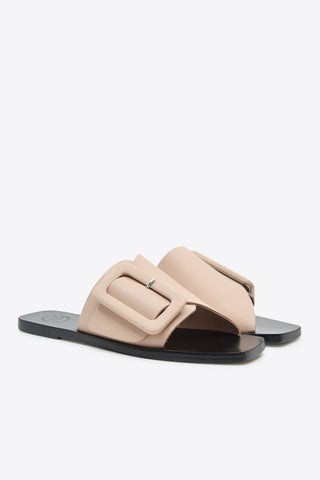 ATP ATELIER Ceci Flat Sandals - Dusty Pink