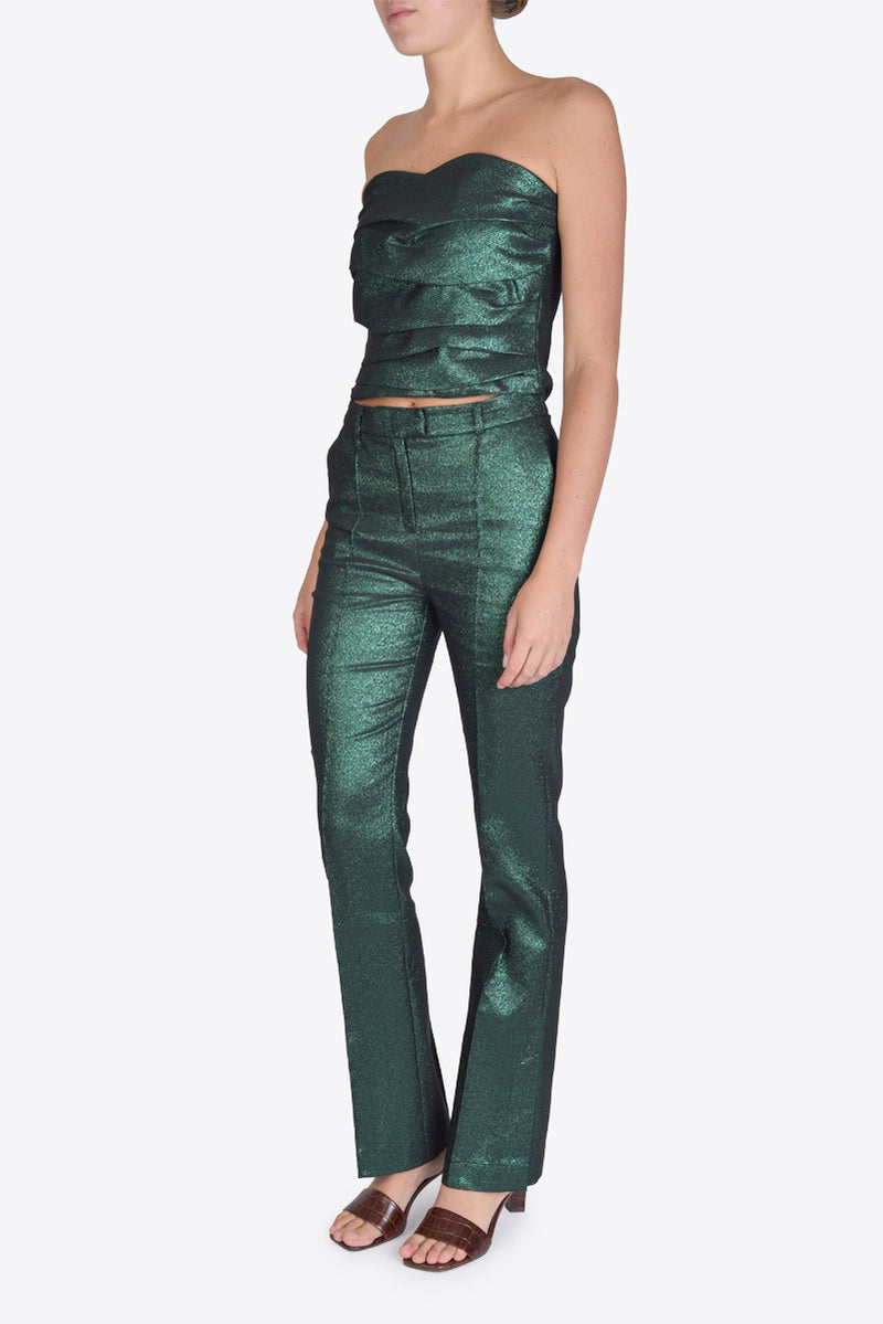 Ethel Top - Green Glitter