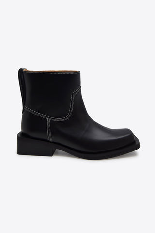GANNI Low MC Boot - Black
