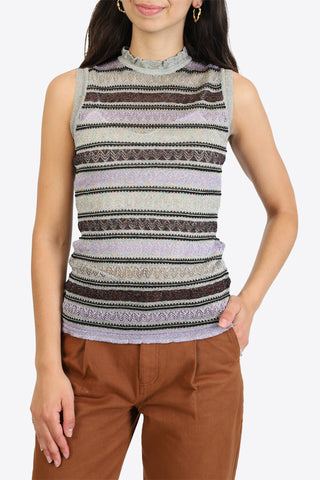 M MISSONI Sleeveless Crew Neck - Lavendula