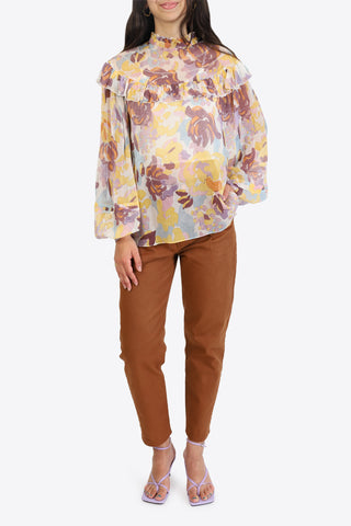 M MISSONI Long Sleeve Blouse - Lemon Chrome