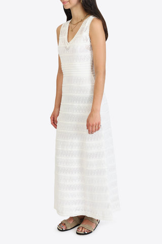 M MISSONI Long Dress - Marshmallow