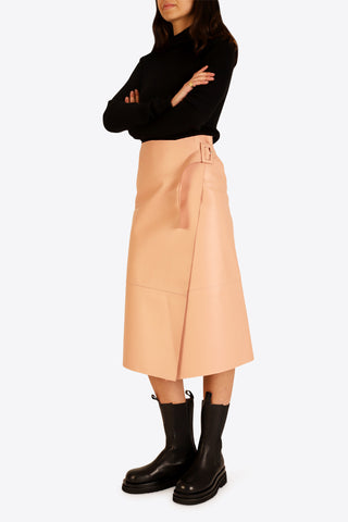 ON PARKS Hoxton Leather Skirt - Pink