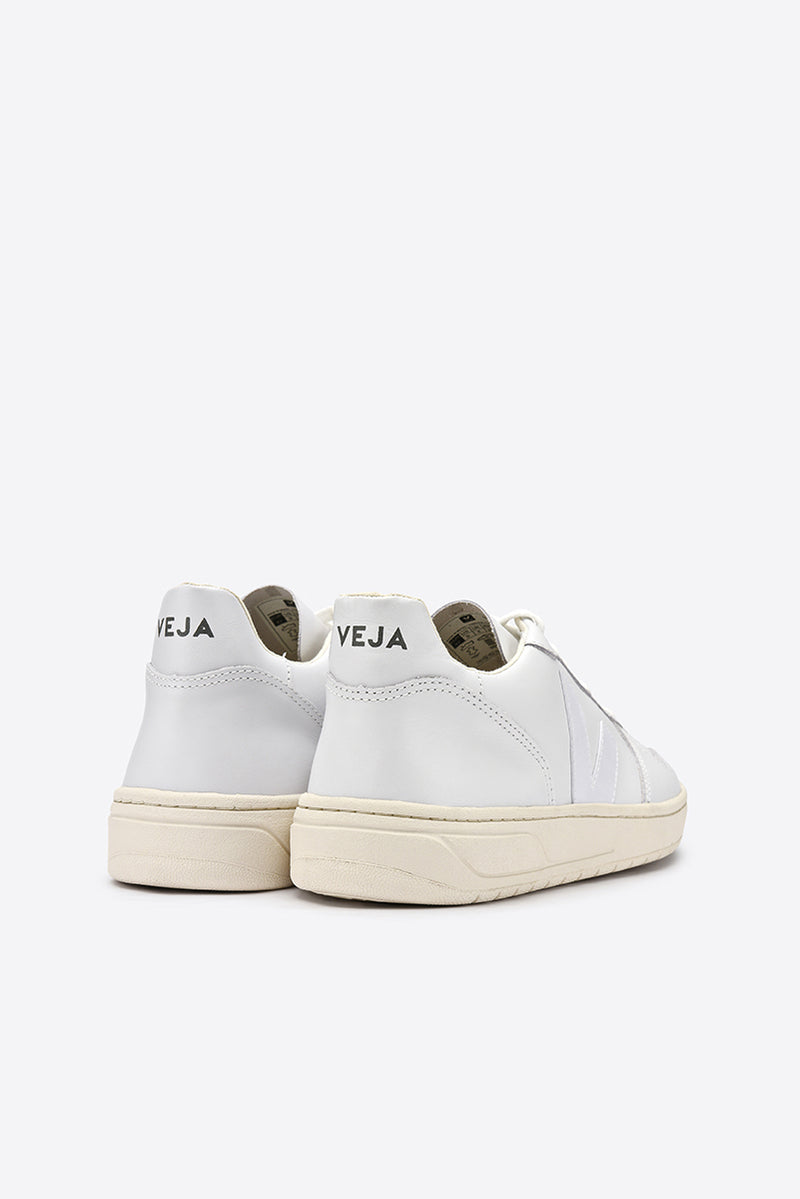 V-10 Leather Trainers - Extra White