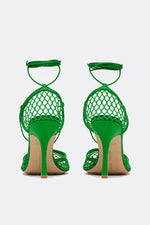 Stretch Mesh Sandals - Green