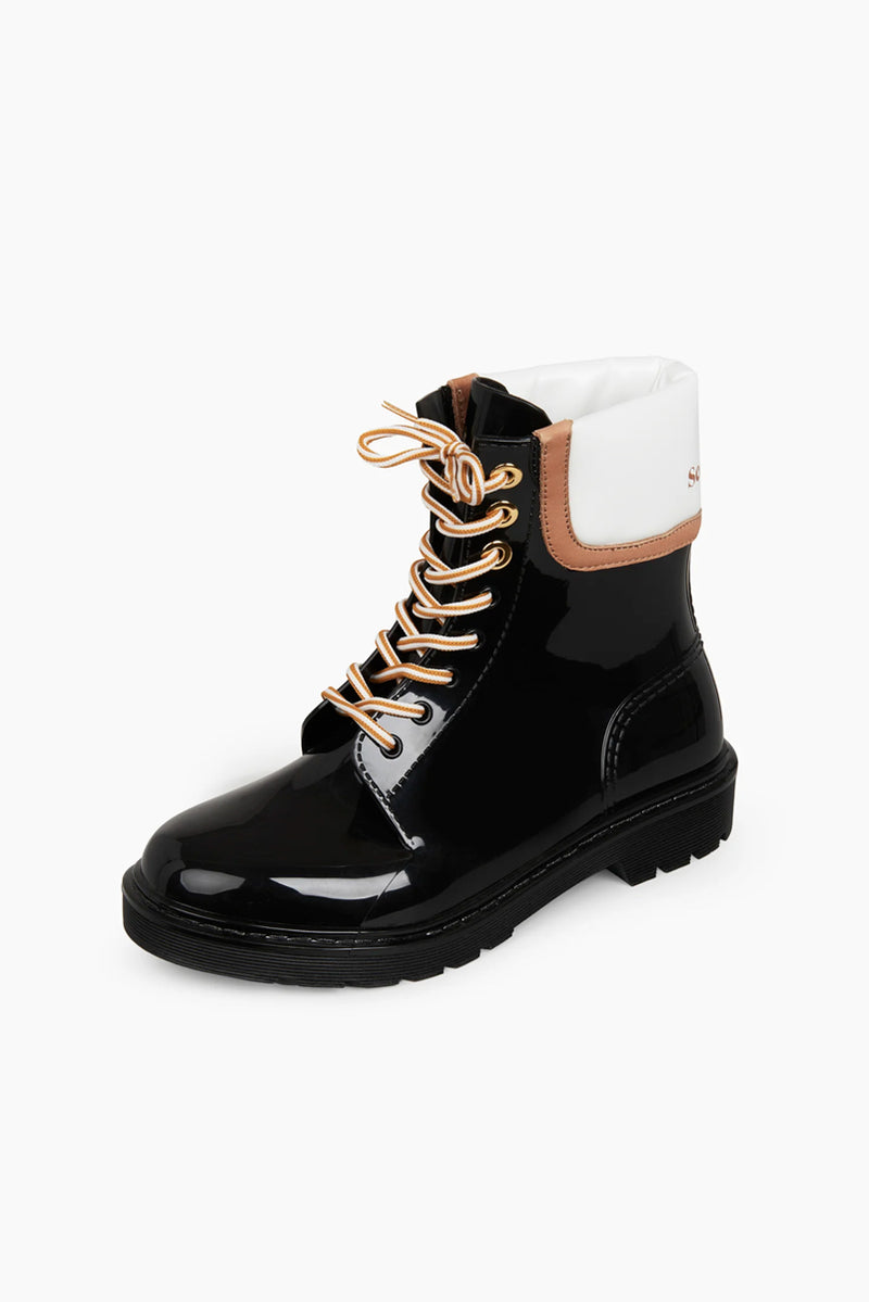 Florrie Rain Boot - Black Rubber