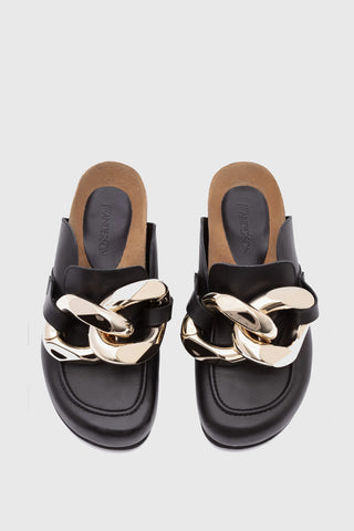 JW ANDERSON Chain Loafer Mules - Black