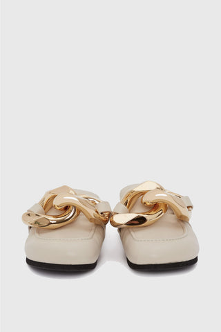 JW ANDERSON Chain Loafer Mules - Cream