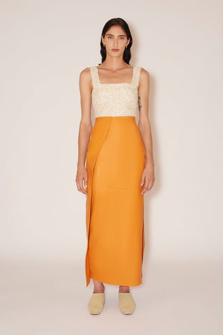 NANUSHKA Vinni Vegan Leather Pants - Creme
