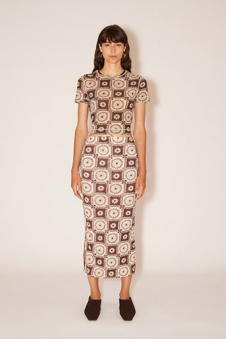 NANUSHKA Idris Twist Front Shirt - Rust