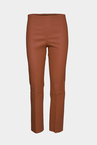 BY MALENE BIRGER Florentina Leather Pants - Brick