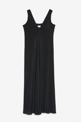 OTTOD'AME Long Slip Dress - Nero