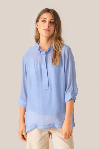 SECOND FEMALE Tul Blouse - Pale Iris