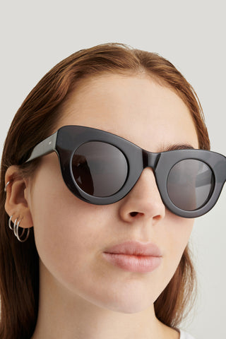 SUN BUDDIES Uma Sunglasses - Transparent Grey