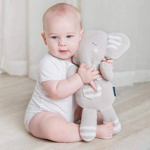 Eli the Elephant Knitted Toy