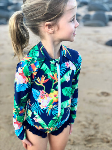 Lorikeet Love Girls Swimsuit