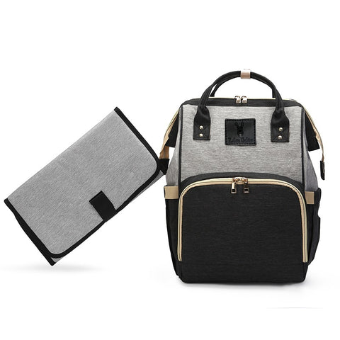 Backpack Nappy Bag Black & Grey