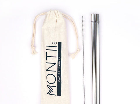 MontiiCo Stainless Straw Set 2pk