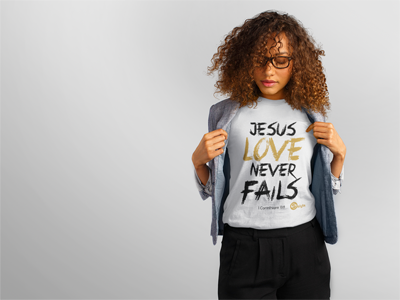 Jesus Love Never Fails T Shirt