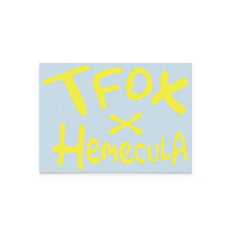 Die Cut Sticker - Yellow Hemecula