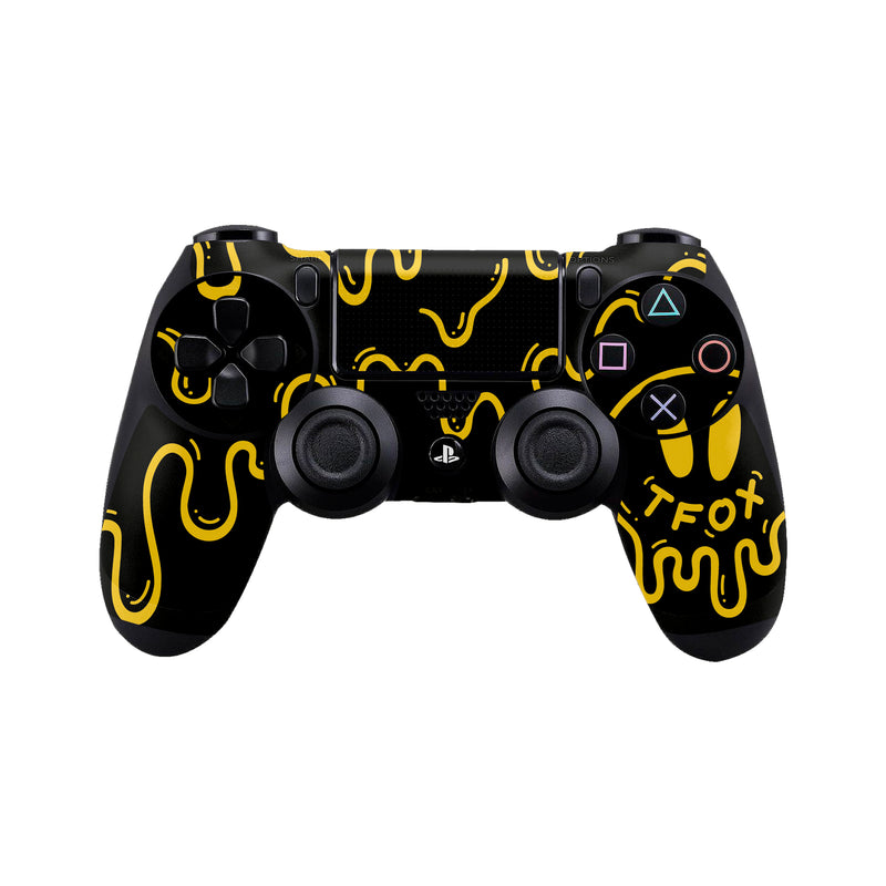 Controller Skin Set - Black Stratton PS4