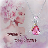 Crystals Pendant Rose Necklaces