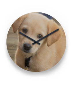 golden retriever puppy Round Wall Clock