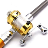Fishing Reel - Pen Shape Fishing Rod With Reel Wheel