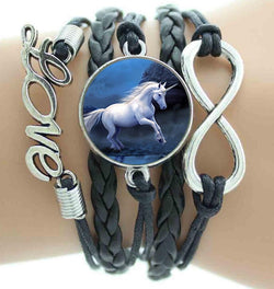 19 style Love Horse Infinity Leather Bracelets