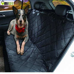 Black Car Full BackSeat Waterproof Cover for Pets