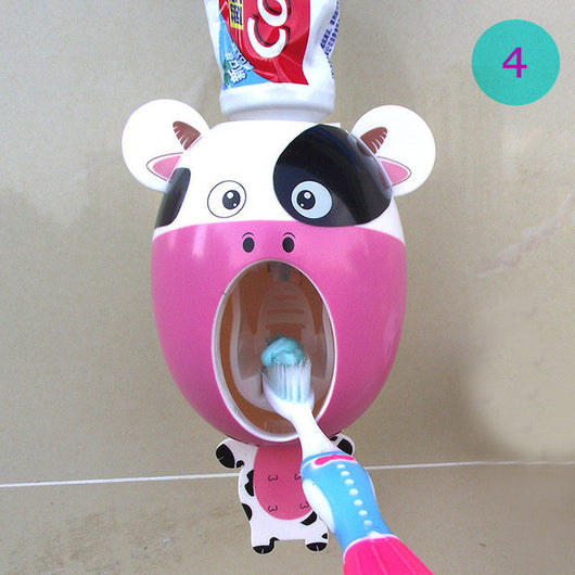 Animal Automatic Toothpaste Dispenser + Toothbrush Holder Set