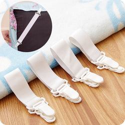 4 pieces Multipurpose Bed Sheet Clip Mattress Elastic Holder Grippers