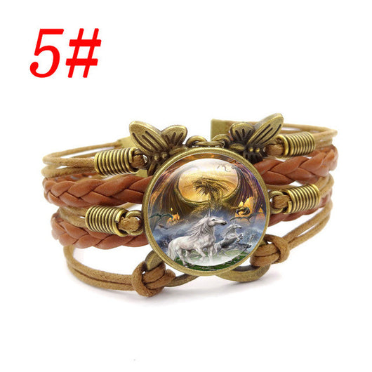 12 Style Unicorn Infinite Butterfly bracelets