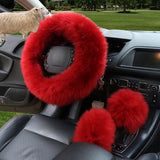 New Australian Wool Car Steering-wheel Cover (3pcs/set)