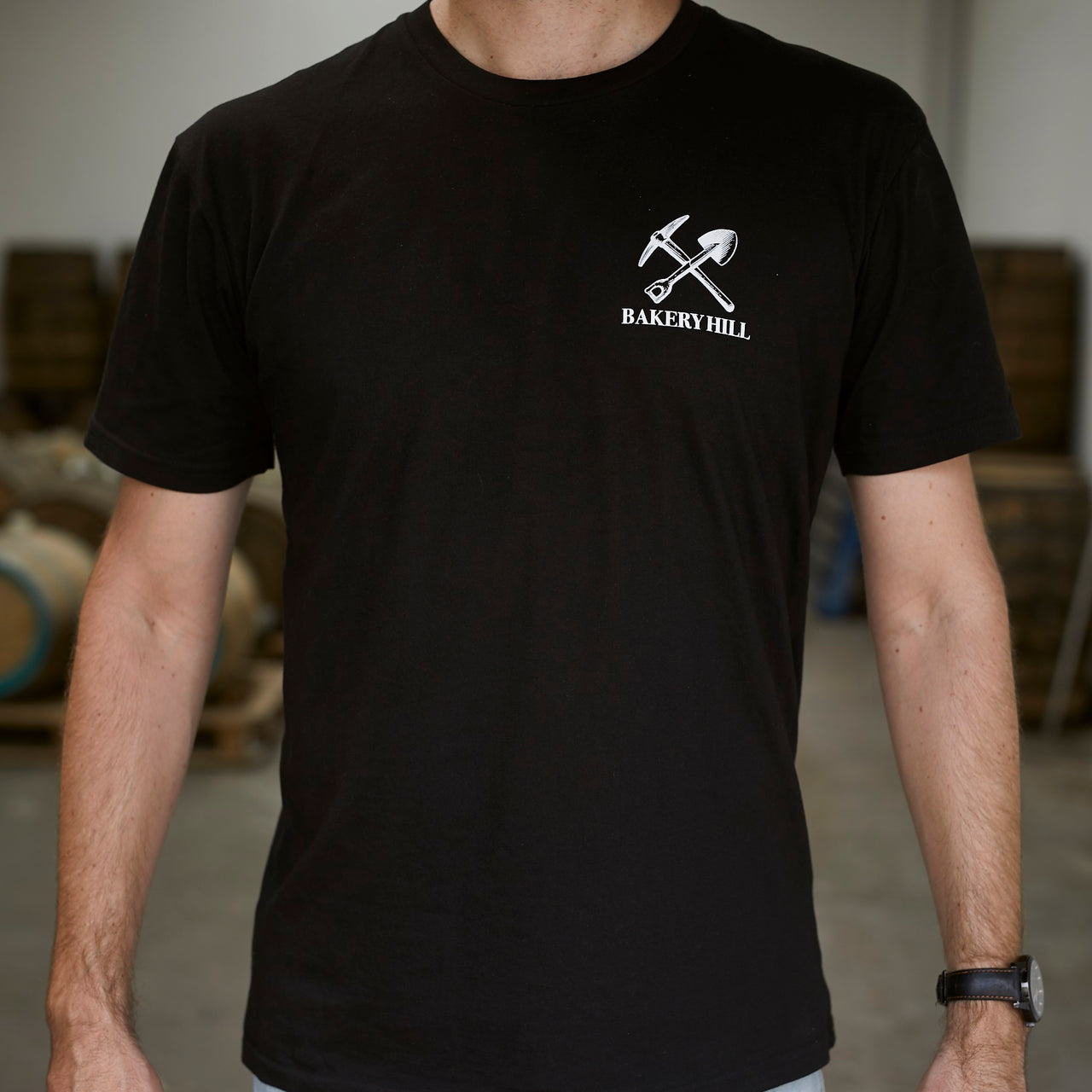 bakery hill distillery t-shirt black front