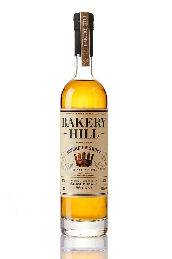 Bakery Hill Sovereign Smoke - Defiantly Peated 500mL Limited Edition (50% ABV)