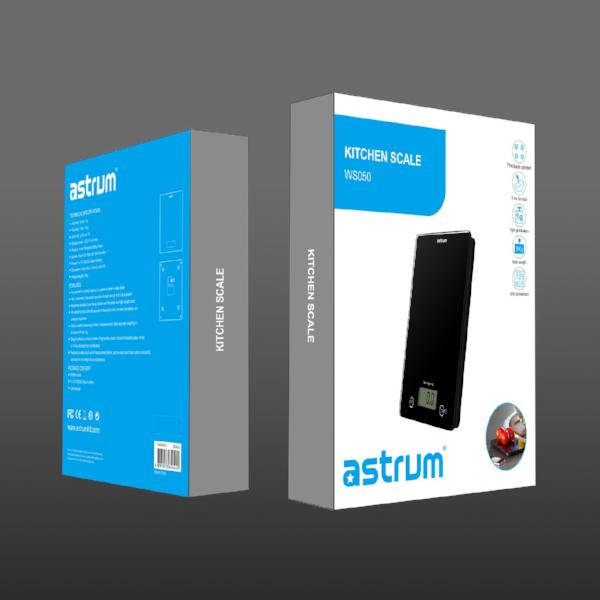 Ultra Slim Kitchen Scale WS050 - Astrum Products Australia