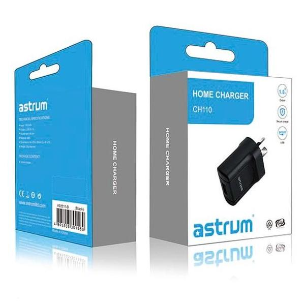 Astrum CH110 Home Charger AU Single USB 5V 1A
