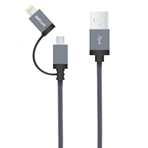 USB 2 in 1 Charge / Sync Cable 8pin + 13 pin (AC330)