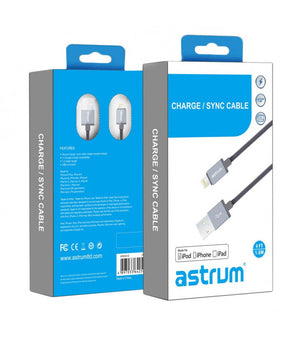 Charge / Sync Cable Apple 8 pin MFI AC830 - Astrum Products Australia
