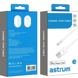 8 pin Lightning to USB Charge / Sync MFI Cable AC810 - Astrum Products Australia