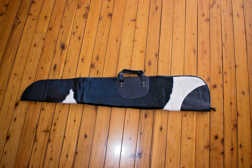 Large Cowhide Gun Case ~ Black & White