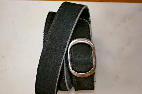 Medium Cowhide Belt ~ Black Range