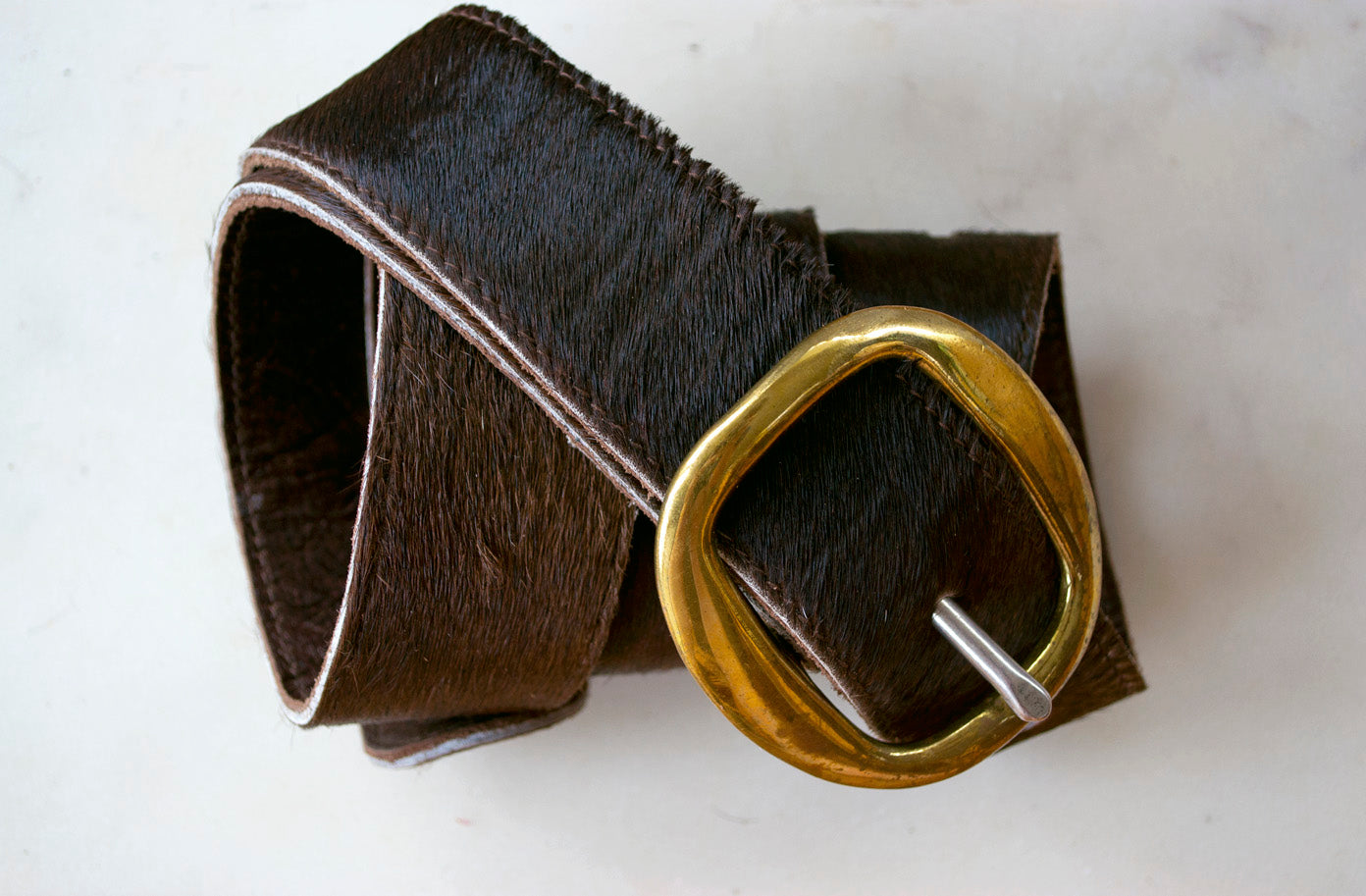 Thick Cowhide Belt ~ Brown Range