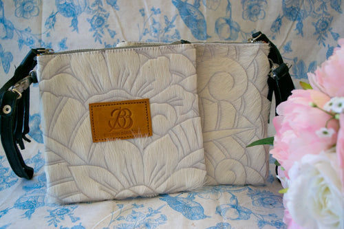 Small Carved Clutch - White Collection